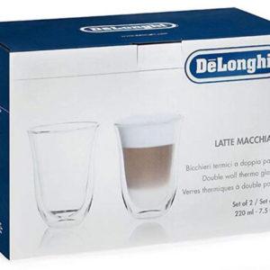 DeLonghi Latte Macchiato Cups Set of 2 Glasses
